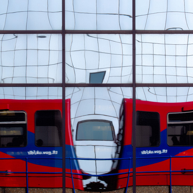 """""""Reflections on the DLR"""" stock image"""