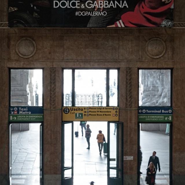 """Central Station, Milan"" stock image"