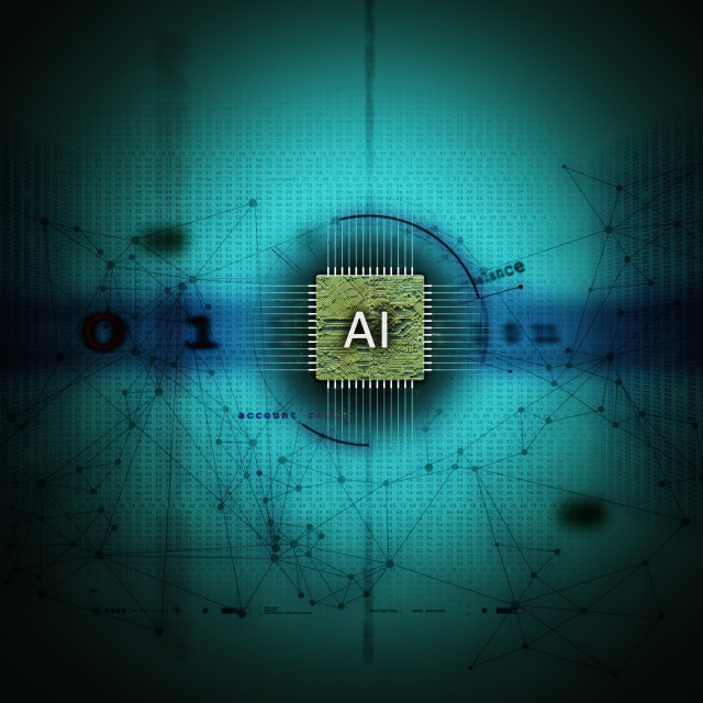 """Abstract illustration of Artificial Intelligence"" stock image"