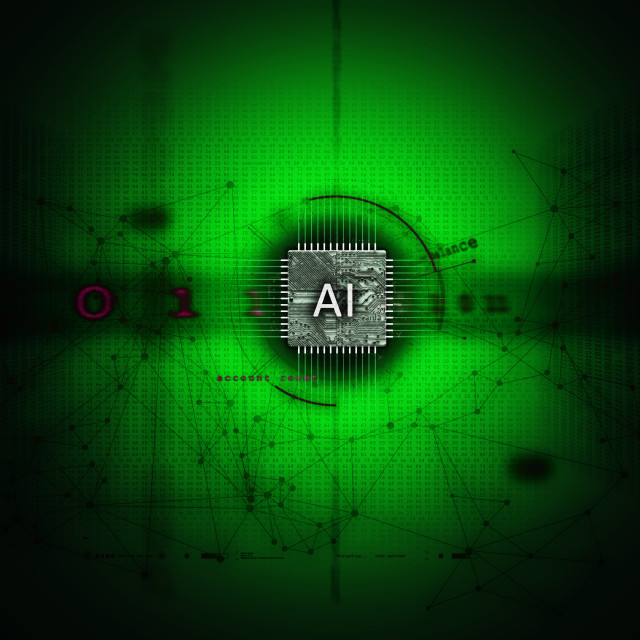"""""""Abstract illustration of Artificial Intelligence"""" stock image"""