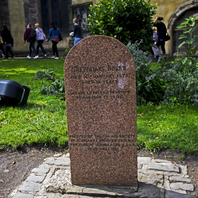 """Tombstone for Greyfriars Bobby"" stock image"