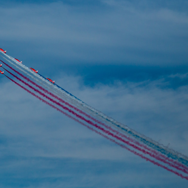 """Red Arrows Royal Air Force Aerobatic Team"" stock image"
