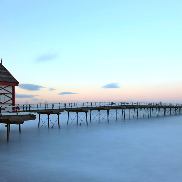 """""""saltburn-by-the-sea, north yorkshire, UK..."""" stock image"""