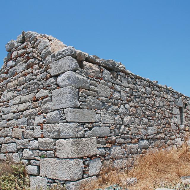 """""""Medieval Crusader castle on Tilos"""" stock image"""