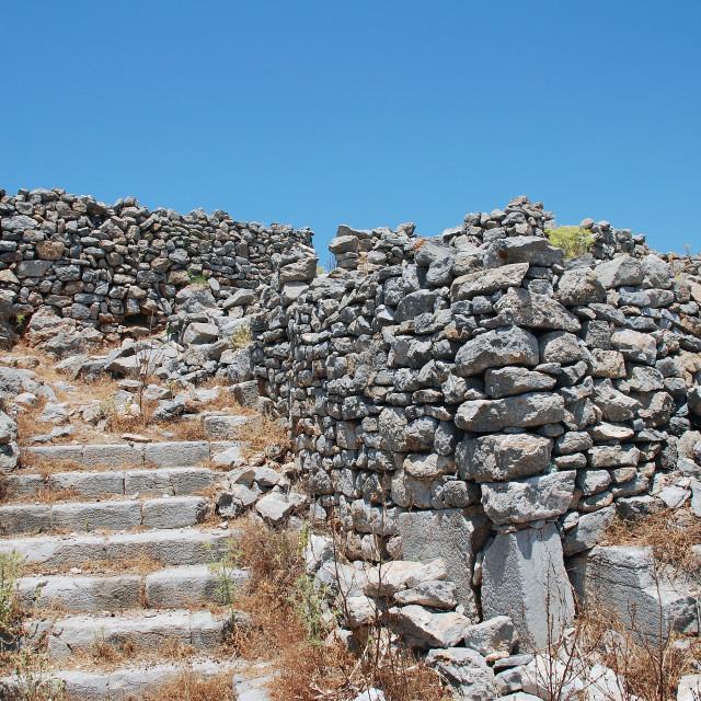 """Crusader Knights castle on Tilos island"" stock image"