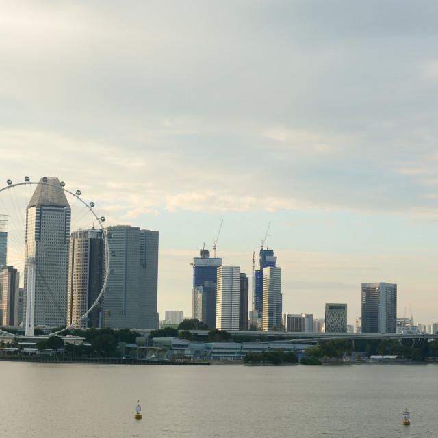 """Cityscape in Singapore"" stock image"