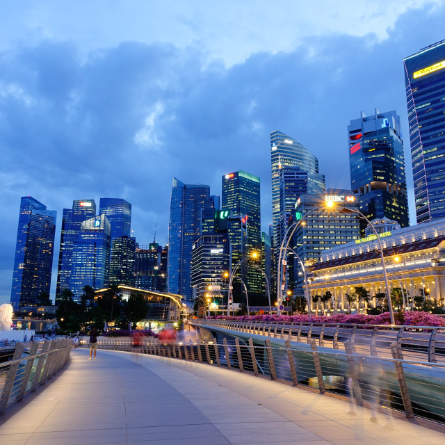 """""""Modern buildings at downtown in Singapore"""" stock image"""
