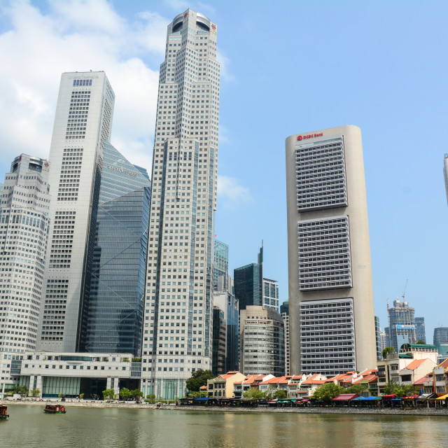 """""""Modern buildings in Singapore"""" stock image"""