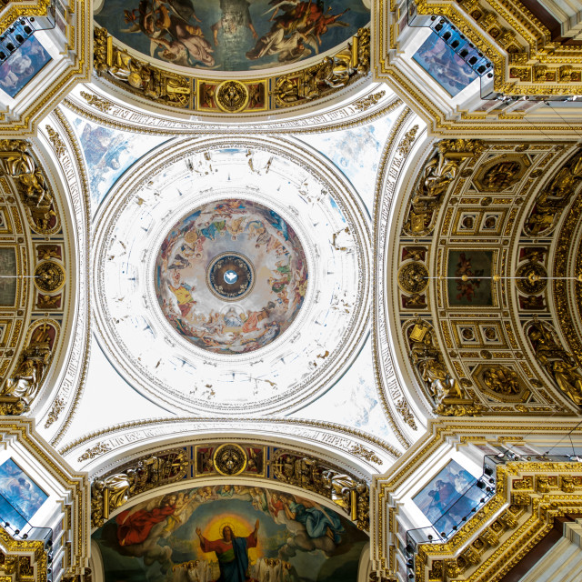 """Ceiling, Saint Isaacs Cathedral"" stock image"