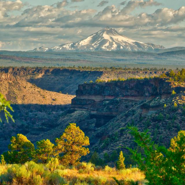 """Mt Jefferson At Sunrise"" stock image"
