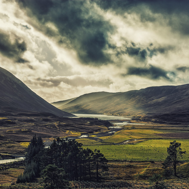 """The Scottish Highlands"" stock image"