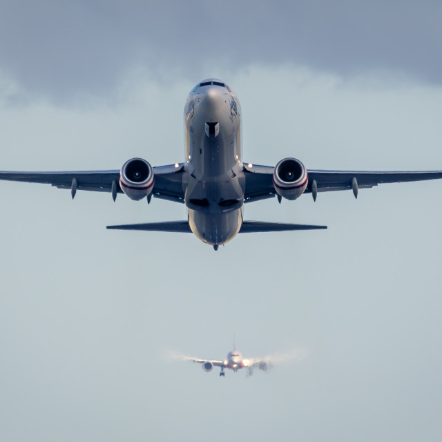 """Passenger Jet Taking Off"" stock image"
