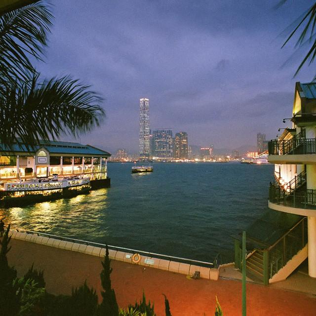 """""""Central Pier, Hong Kong"""" stock image"""