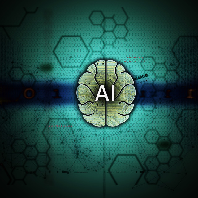 """""""Artificial Intelligence and machine learning"""" stock image"""