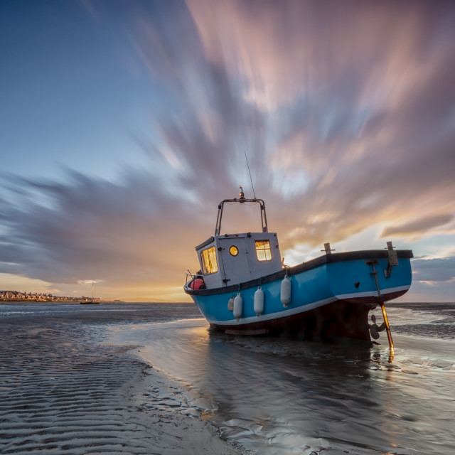 """Sailing into sunset"" stock image"
