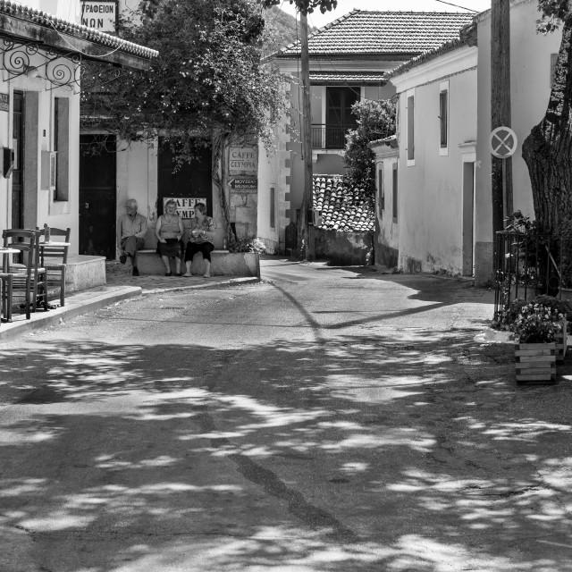"""Corfu village"" stock image"