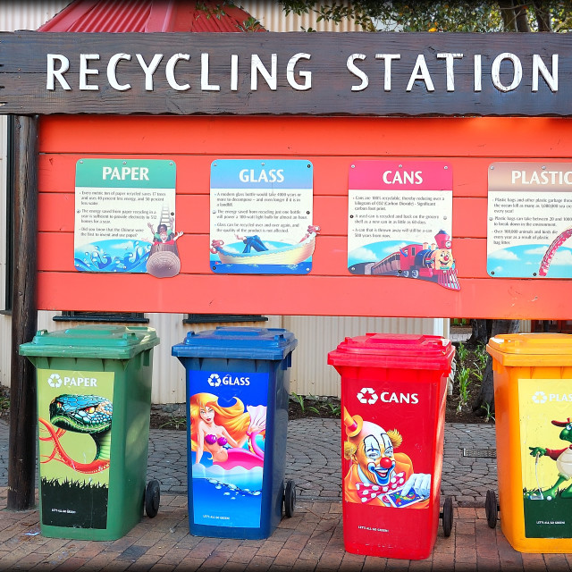 """DSC_5041- Recycling Station"" stock image"