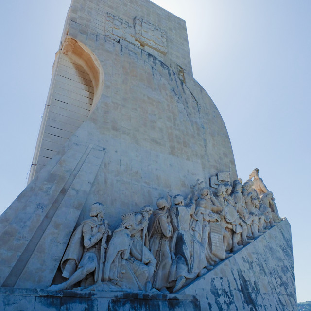 """""""Backlit Monument Of Discoveries"""" stock image"""