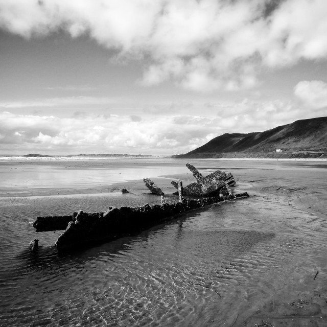 """""""Gower shipwreck"""" stock image"""