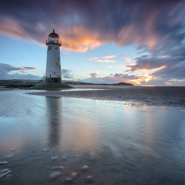"""Point of Ayr sunset"" stock image"