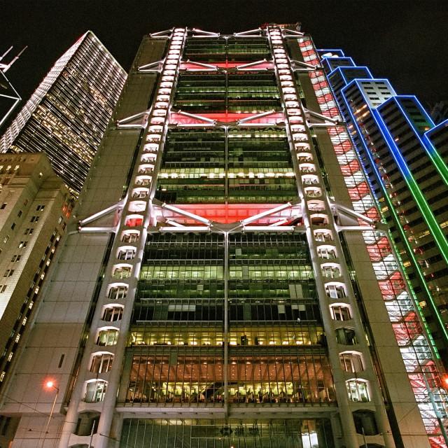 """""""Hong Kong Bank Building"""" stock image"""