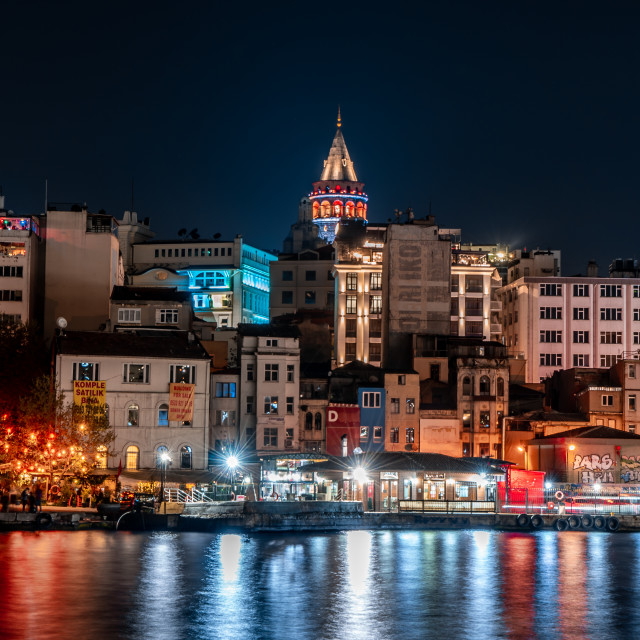 """""""ISTANBUL BY THE WATER"""" stock image"""