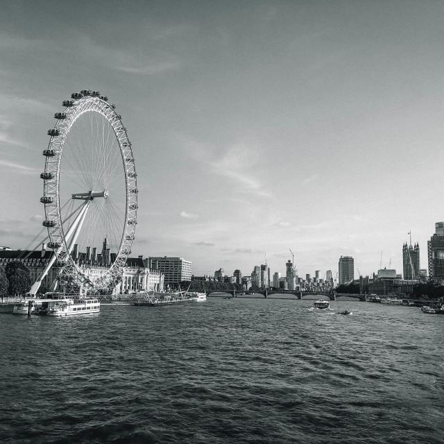 """London Eye at Evening"" stock image"