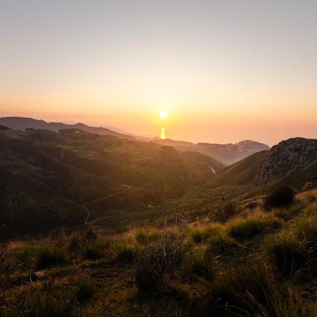 """Sunset over the horizon"" stock image"