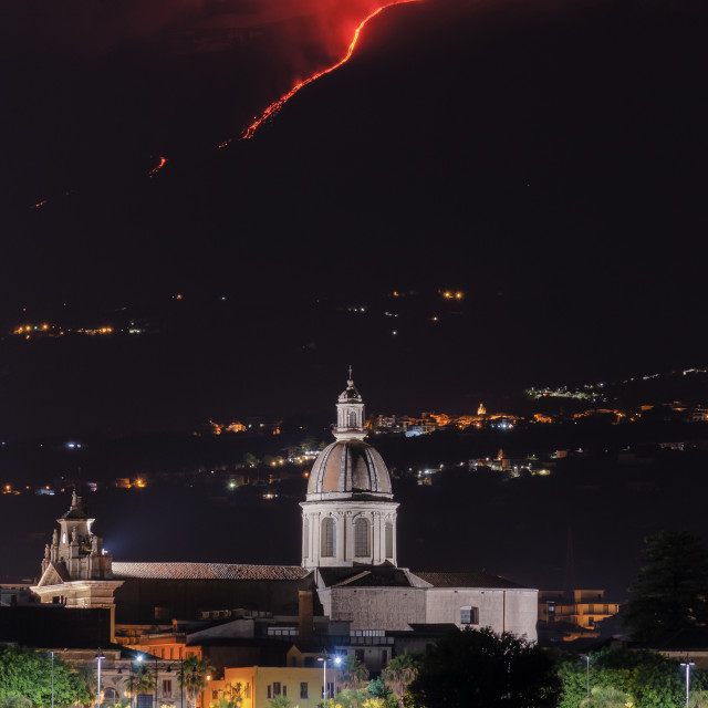 """Etna Eruption"" stock image"