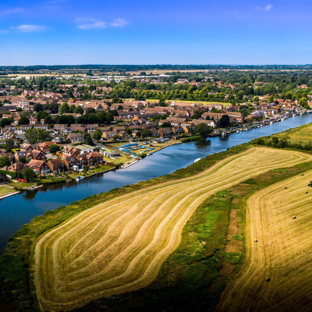"""""""Farming on the Thames"""" stock image"""