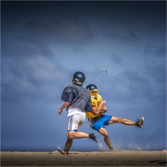 """""""Rugby en la playa"""" stock image"""