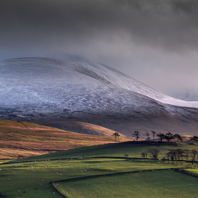 """Castle How and Skiddaw"" stock image"