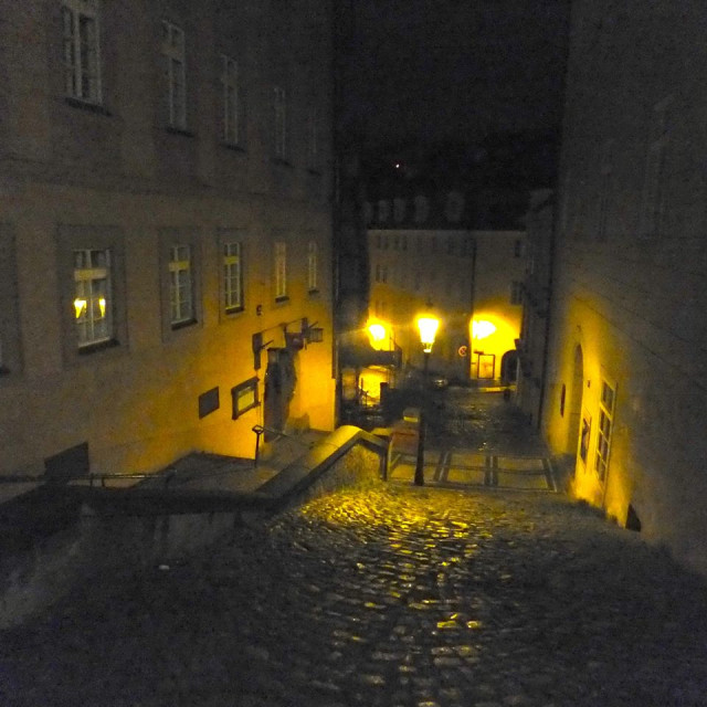 """""""Night in Prague"""" stock image"""