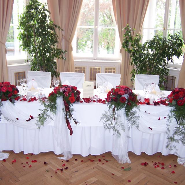 """Wedding reception decoration"" stock image"