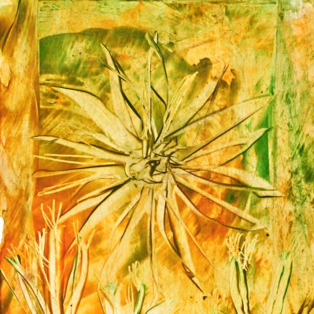 """Hot wax encaustic painting"" stock image"