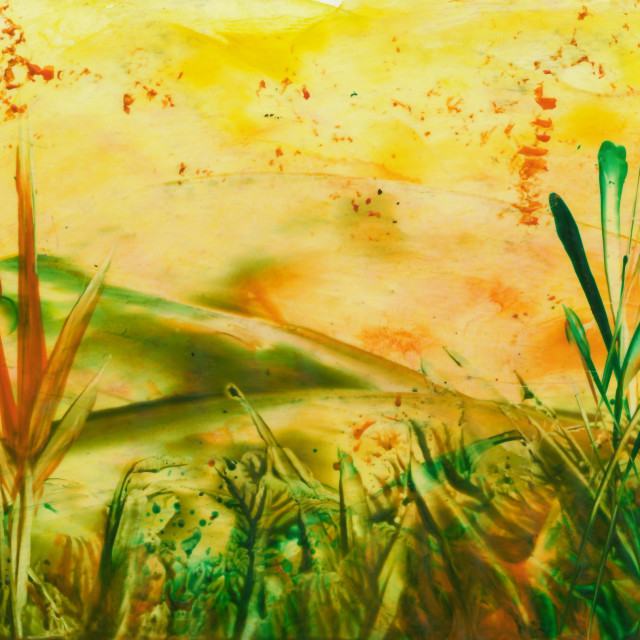 """""""Encaustic abstract painting"""" stock image"""