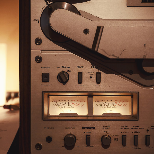 """""""Old Tape Deck"""" stock image"""