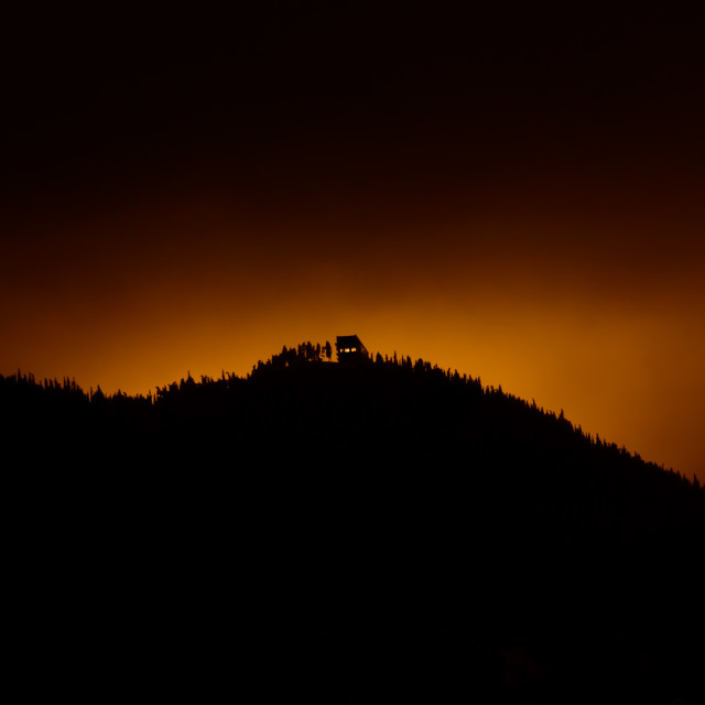 """""""The mystical house at the hill top"""" stock image"""