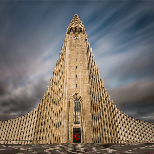 """Hallgrimskirkja Church"" stock image"