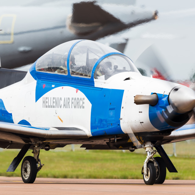 """""""Hellenic Air Force T-6A Texan II"""" stock image"""