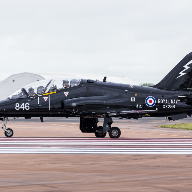 """Royal Air Force Hawk T.2"" stock image"