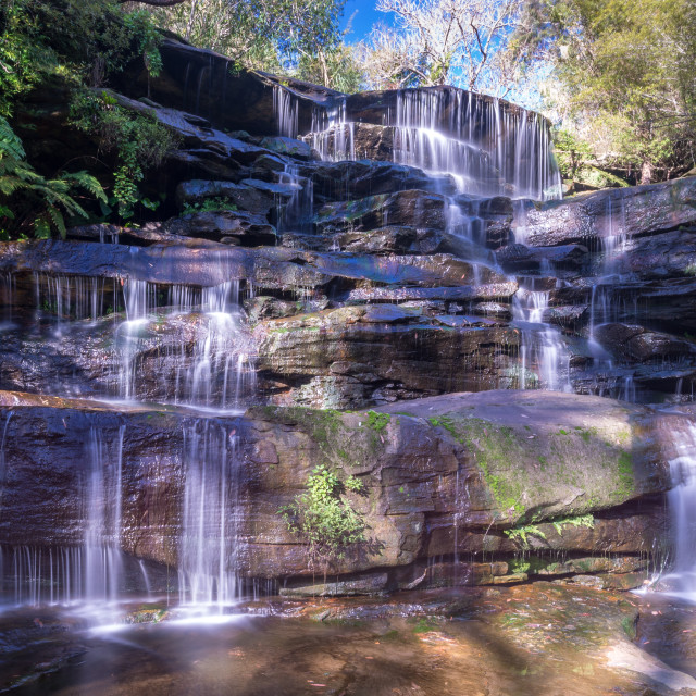 """Lower Frenchs Falls"" stock image"
