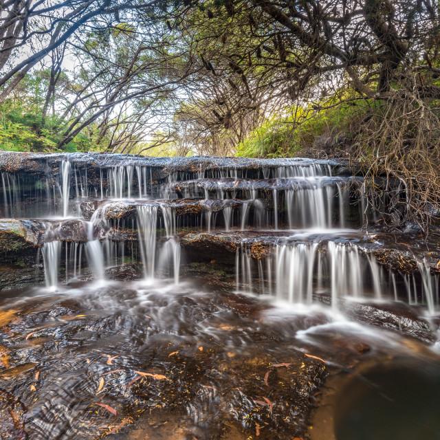 """Cascades on Yosemite Creek"" stock image"