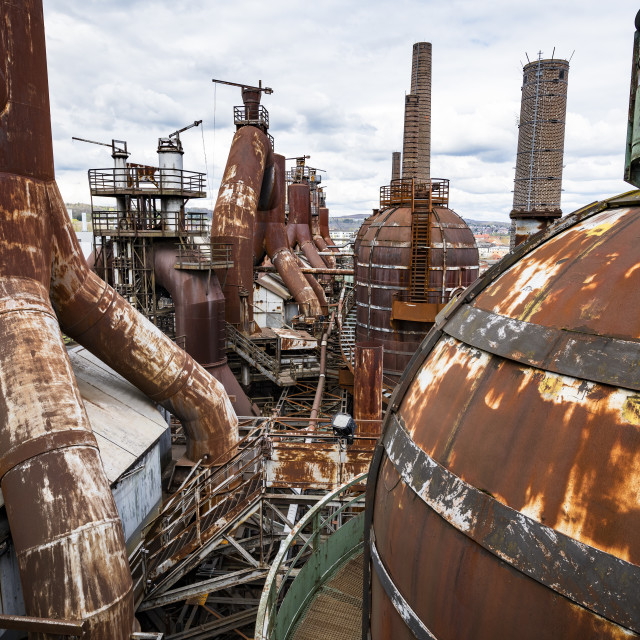 """""""Unesco world heritage sight Voelklingen Ironworks, Saarland, Germany"""" stock image"""
