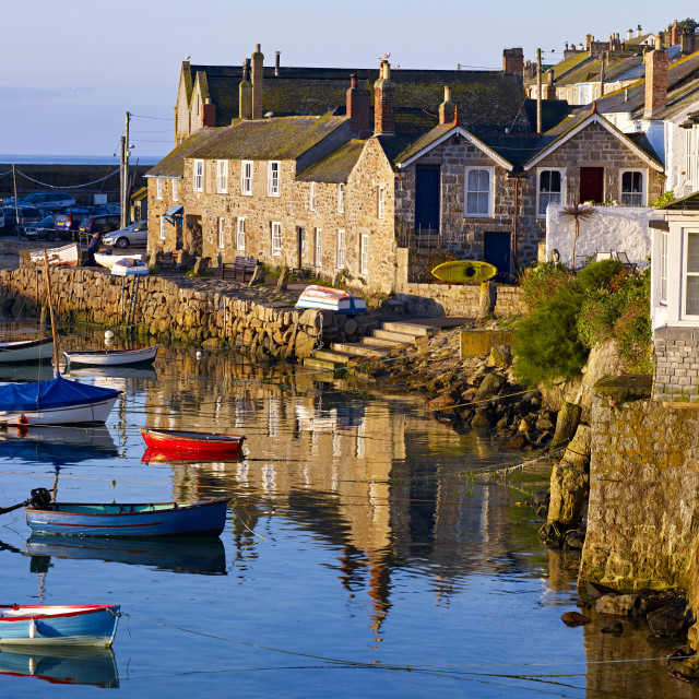 """""""The incredibly picturesque fishing village of Mousehole, Cornwall, UK"""" stock image"""