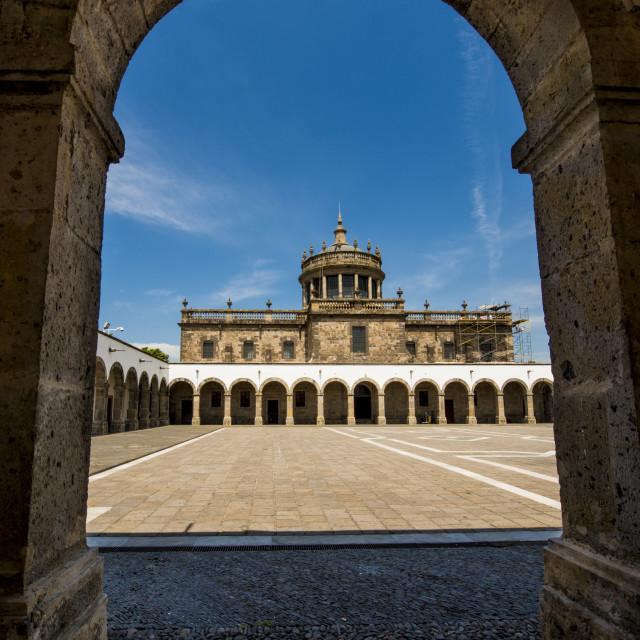 """Hospicio Cabanas hospital, UNESCO World Heritage Site Historic Center,..."" stock image"