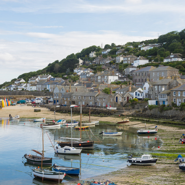 """""""Mousehole harbour"""" stock image"""