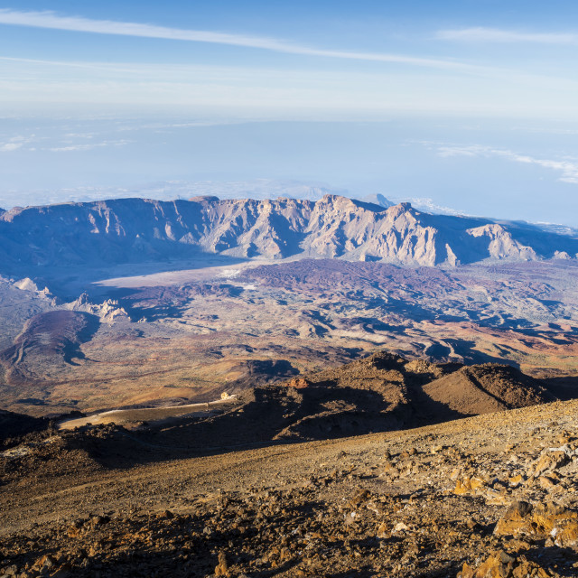"""View of El Teide volcano national park in Tenerife, Canary Islands, Spain,..."" stock image"