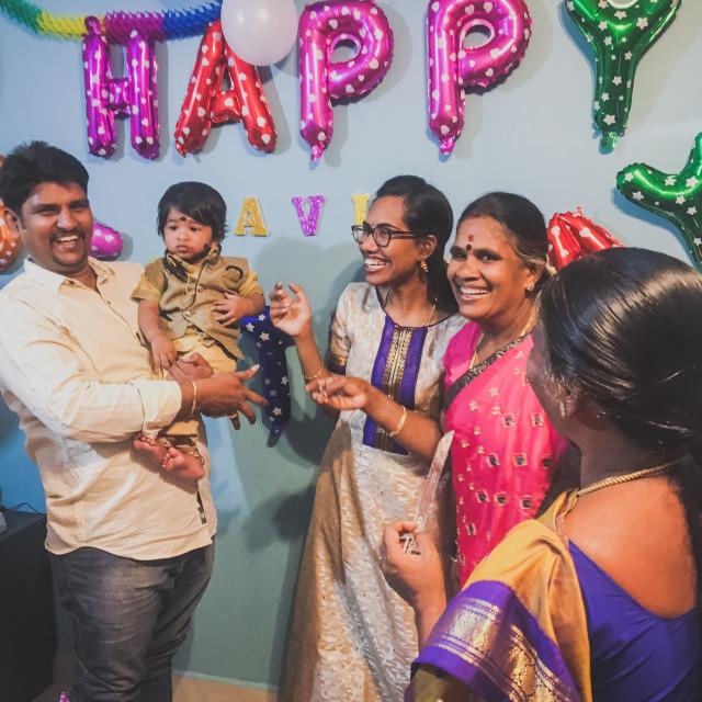 """Happy family"" stock image"
