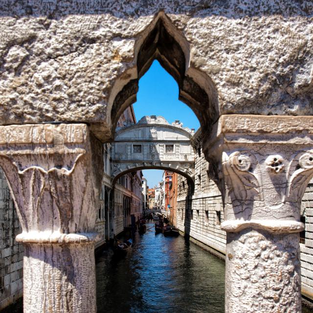 """Ponte dei Sospiri"" stock image"